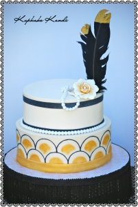 Great Gatsby Handpainted Buttercream